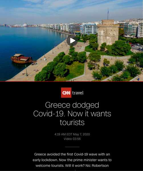 CNN Travel report on Greece plans for summer travel season