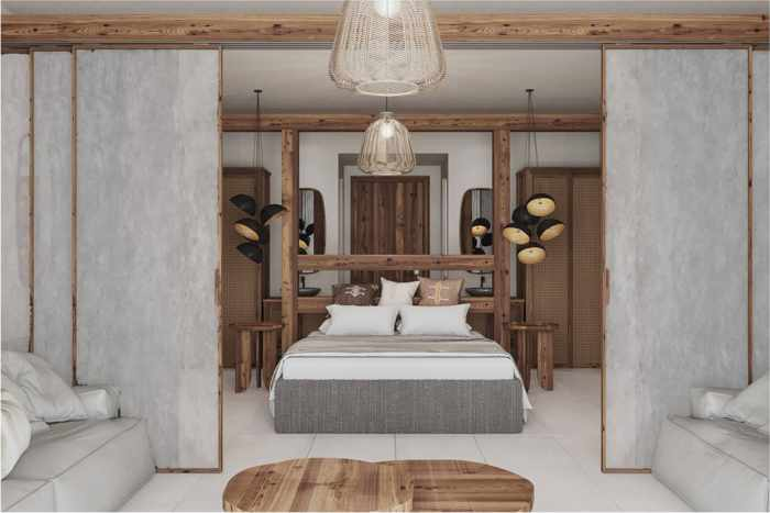 The Royal Senses Resort Crete Family Suite Bedroom