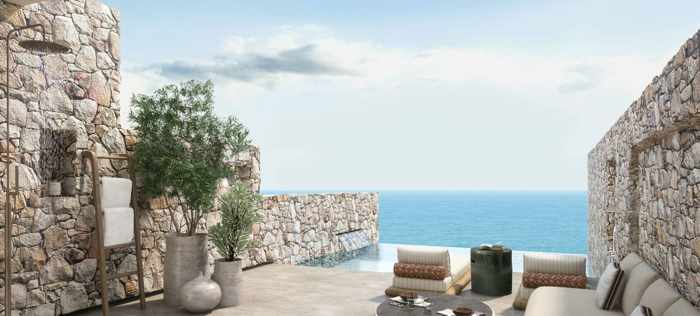 The Royal Senses Resort & Spa Crete luxury junior suite with private pool