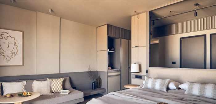 The Royal Senses Resort & Spa Crete website image of a seaview superior room