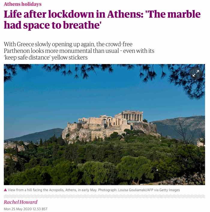 Rachel Howard article Life After Lockdown in Athens