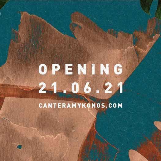 2021 opening of Cantera restaurant on Mykonos