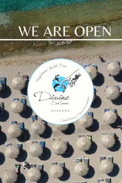 Divine Sea & More beach bar and restaurant on Mykonos