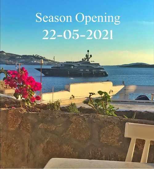 Faro Cafe Bar Mykonos opening announcement