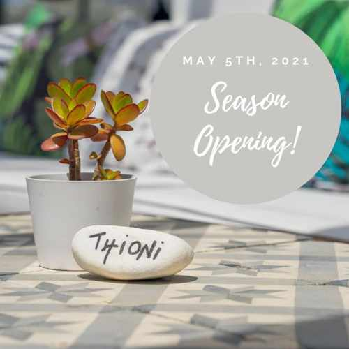 Thioni Restaurant Mykonos season start date for 2021