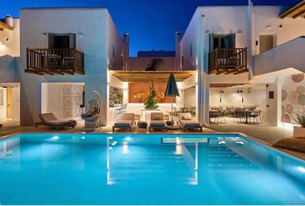 Adorno Mykonos beach hotel seen in an image from its social media pages