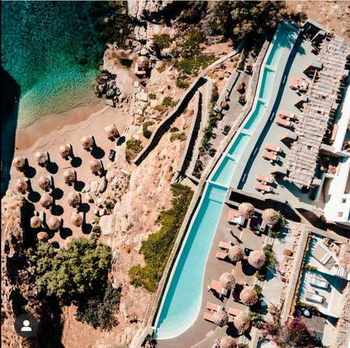 Aerial view of The Wild Hotel on Mykonos