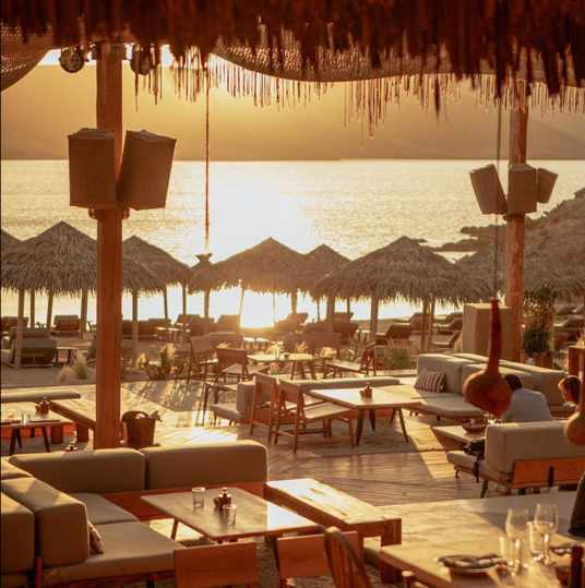 Alemagou beach club on Mykonos seen in a photo from its social media pages