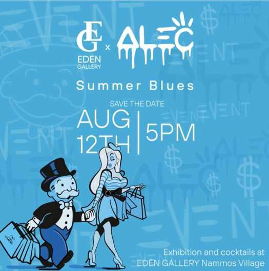 Summer Blues event at Eden Gallery Mykonos