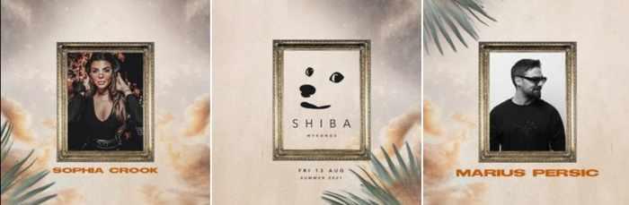 August 13 2021 Shiba club Mykonos presents Sophia Crook and Marius Persic