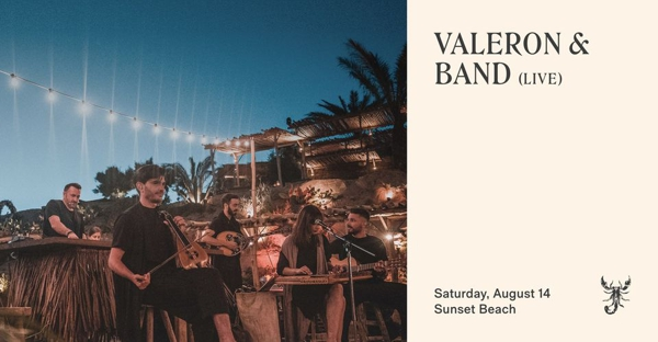 August 14 2021 Valeron & Band perform at Scorpios Mykonos