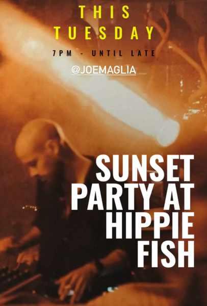 August 17 2021 Hippie Fish Mykonos sunset party with DJ Joe Maglia
