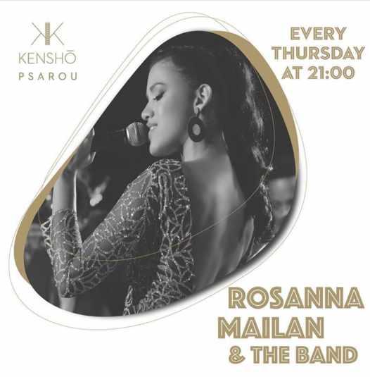 Kensho Psarou Hotel on Mykonos presents singer Rosanna Mailan & The Band