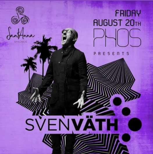 August 20 2021 SantAnna beach club on Mykonos presents Sven Vath