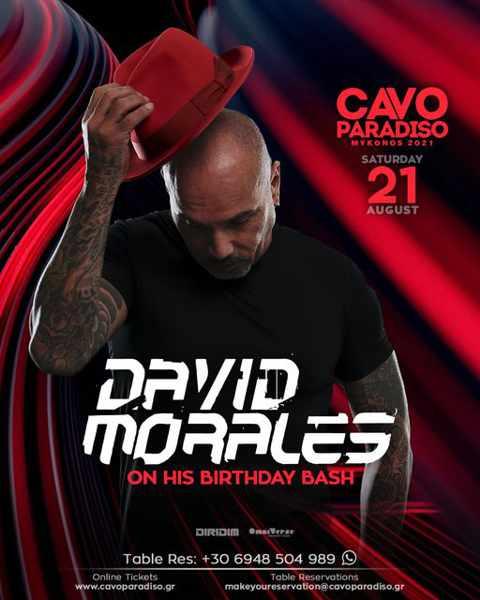 Cavo Paradiso Mykonos presents David Morales
