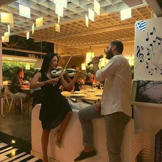 August 21 2021 Krama restaurant Mykonos Greek night music event