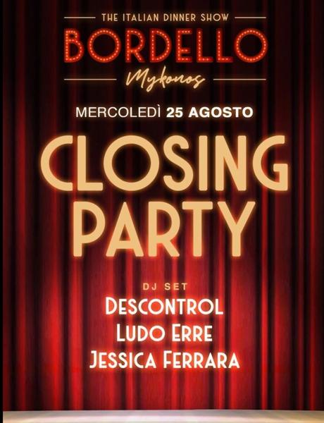 August 25 2021 Bordello Mykonos closing party