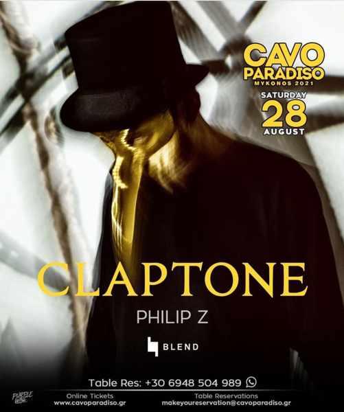 August 28 2021 Cavo Paradiso Mykonos presents Claptone