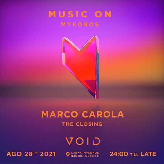 August 28 2021 Void club Mykonos closing party with Marco Carola