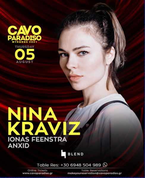 CAvo Paradiso presents Nina Kraviz August 5