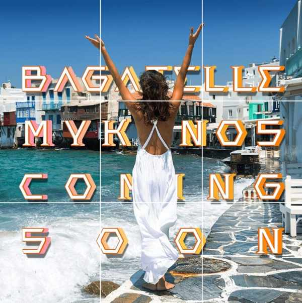 Teaser Instagram post promoting the new Bagatelle Mykonos restaurant