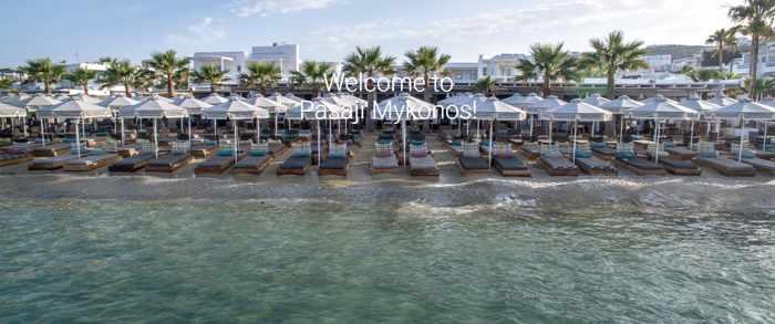 Pasaji restaurant and beach club on Mykonos