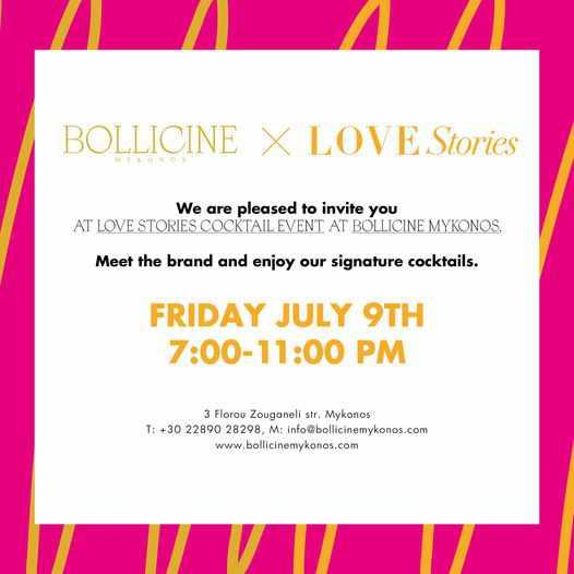 Bollicine Mykonos Love Stories cocktail event