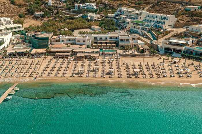 Branco Mykonos hotel seen in an image from its social media pages
