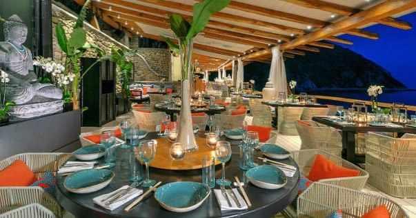 Buddha BAr Beach restaurant Mykonos photo from its social media pages