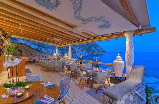 Buddha Bar Beach restaurant Mykonos