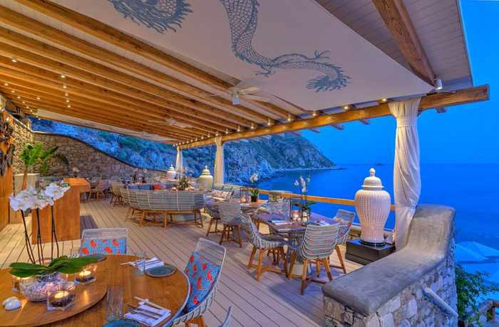 Buddha Bar Beach restaurant Mykonos