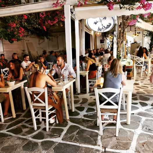 Busulas Greek restaurant on Mykonos seen in a photo from its social media pages