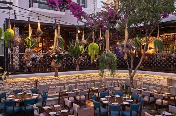 COYA Mykonos restaurant courtyard