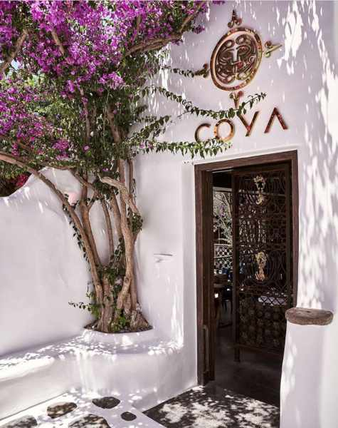 COYA restaurant entrance in Mykonos Town