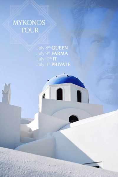 DJ Arodo shows in Mykonos July 8 to 10 2021
