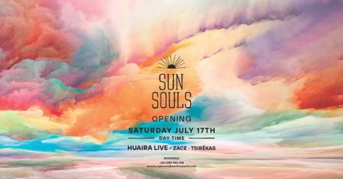 Destino Pacha Mykonos Sun Souls opening party July 17 2021
