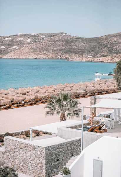 Elia resort and beach restaurant at Elia beach Mykonos