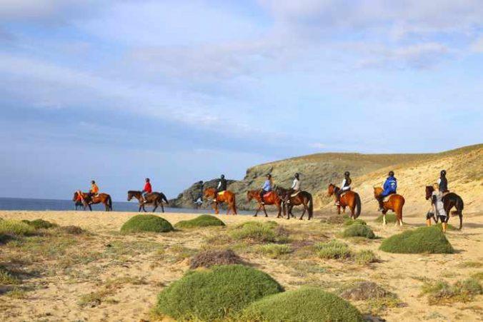 Mykonos Horseland group horse riding tour