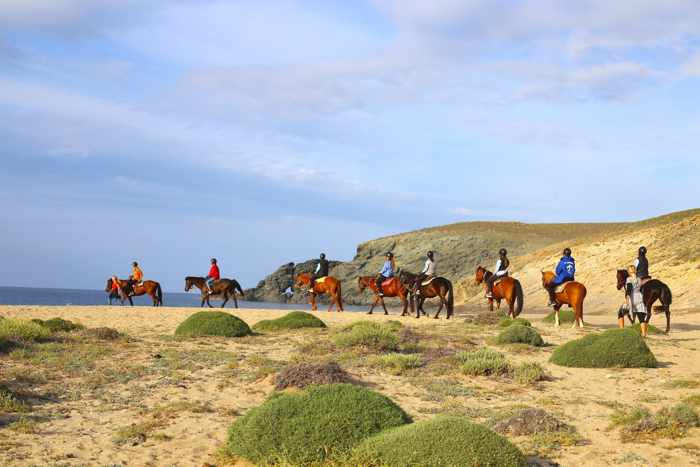 Mykonos Horseland group horse riding tour