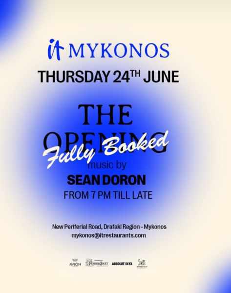 IT Mykonos June 24 2021 grand opening event