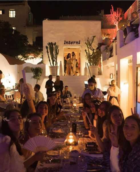 Interni restaurant on Mykonos seen in a photo from its social media pages
