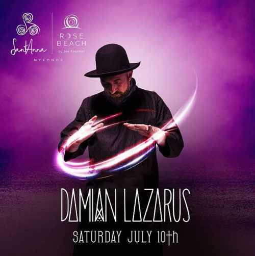 SantAnna beach club Mykonos event featuring Damian Lazarus