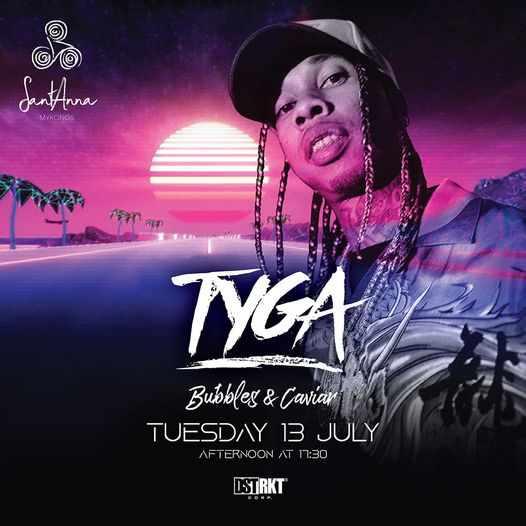 SantAnna beach club Mykonos event featuring Tyga