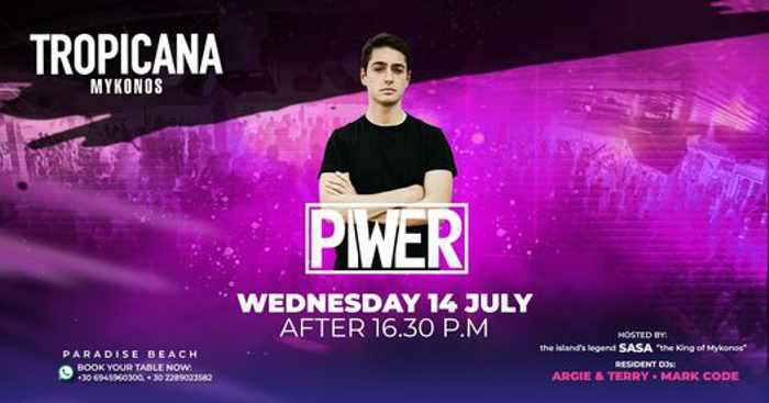 July 14 2021 party at Tropicana beach club on Mykonos