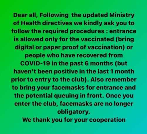 Sanctus club Mykonos entry policy