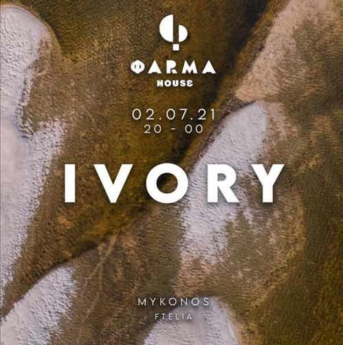 Farma House Mykonos music event featuring Ivory