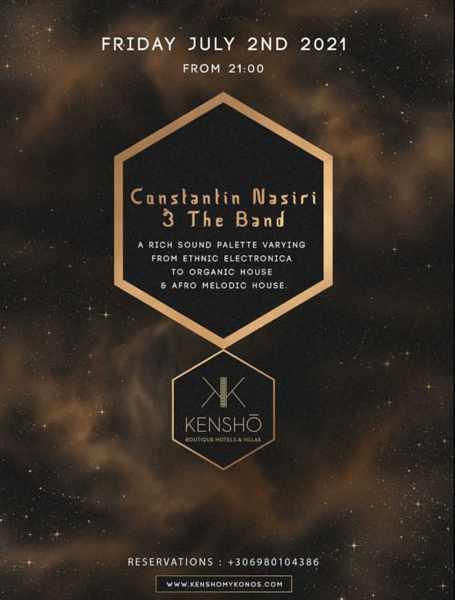 Kensho Psarou Hotel live music event July 2 2021