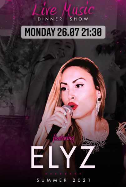 live music by Elyz at Pinky Beach Club on Mykonos