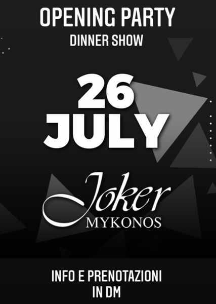 Joker Mykonos opening party 2021