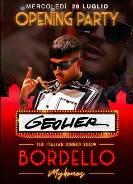 July 28 2020 opening event for Bordello Mykonos Italian Dinner Show